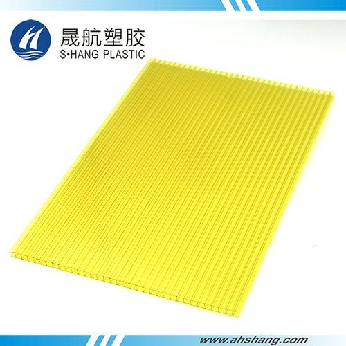 Twin-wall PC hollow sheet - 6mm Yellow