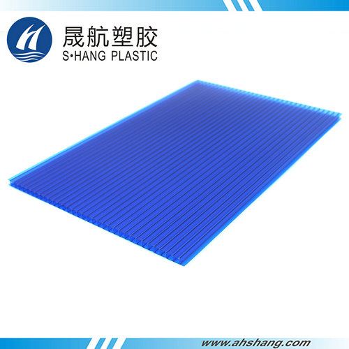 Twin-wall PC hollow sheet - 6mm Blue