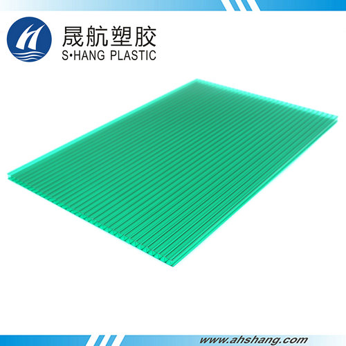 Twin-wall PC hollow sheet - 6mm Green